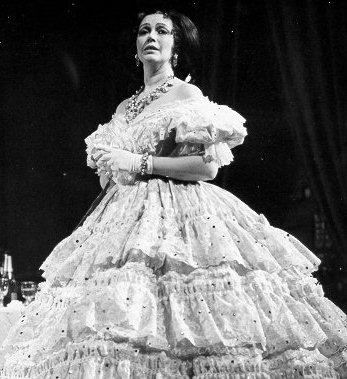 "Lois McDonall, my mother, as Violetta in Guiseppe Verdi's ""La Traviata."" English National Opera production."